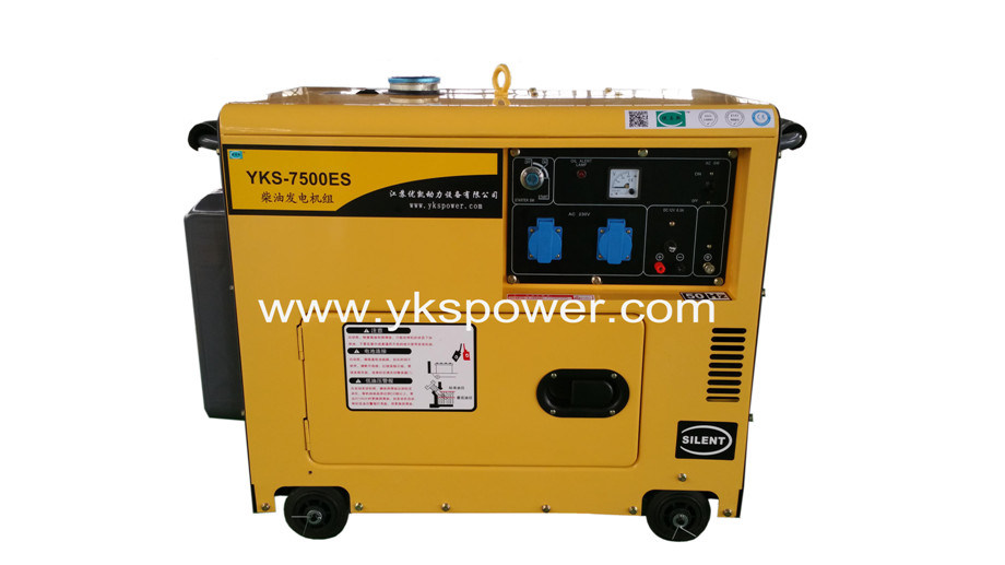 5.5kw Small Air-Cooled Silent Type Generator