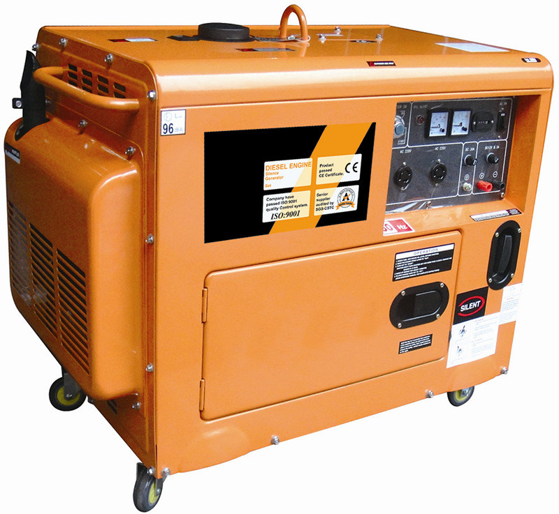 CE Approved Portable Diesel Generator (Jt6000se-1)