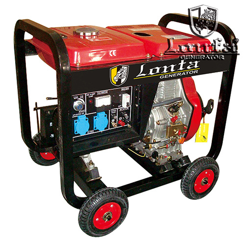 7.5kVA Portable Key Start Open Diesel Power Generator with Battery