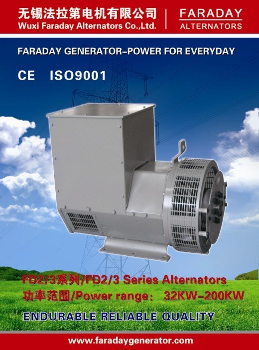 Faraday 58kw/72.5kVA 50Hz/60Hz High Quality A. C. Brush Alternator (FD2CL)