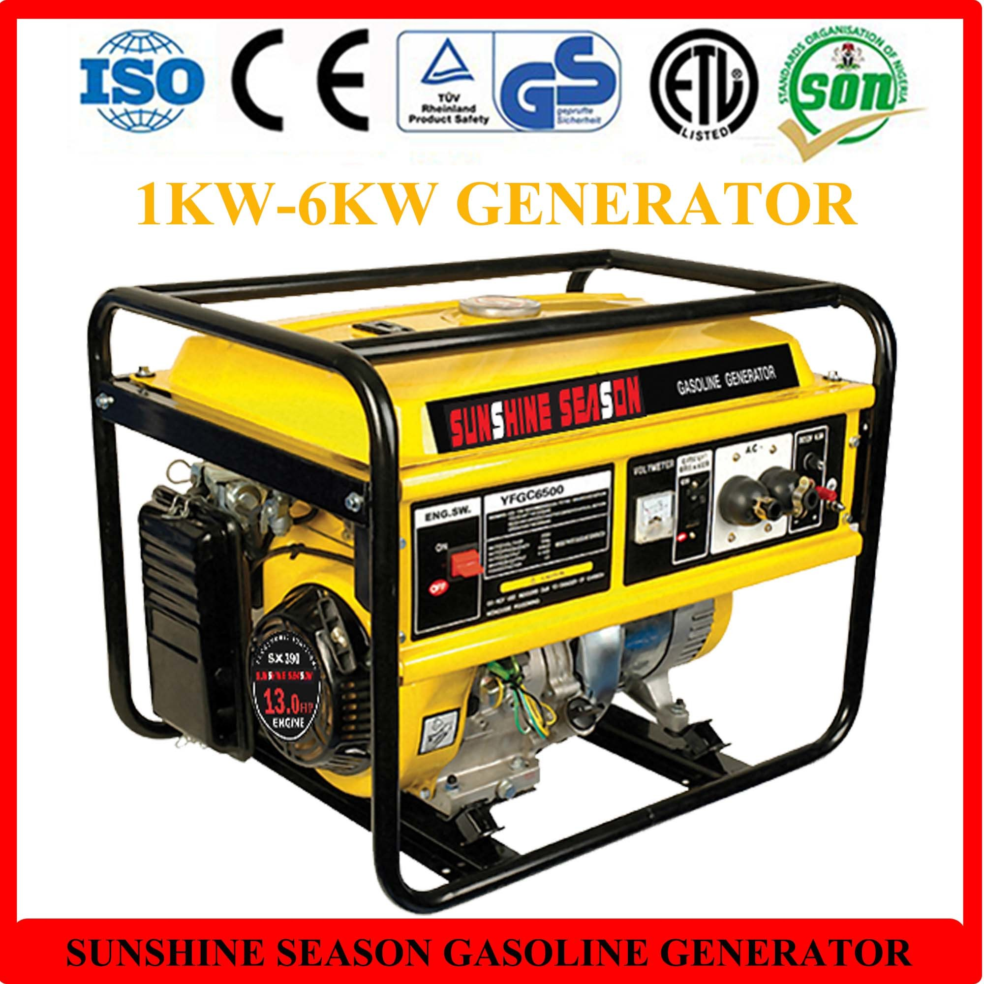5kw Gasoline Generator for Home Use with CE SV China