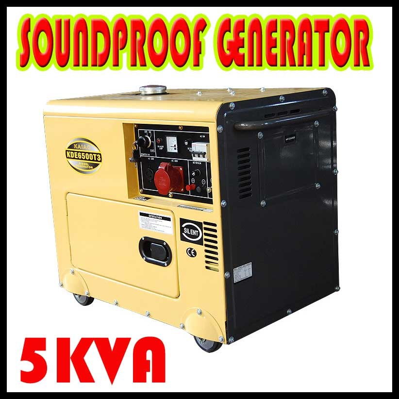Hot Sale 5KW Portable Diesel Generator for Home Use