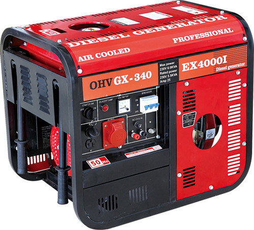 5GF Movable Electric Diesel Generators with Wheels (2KW/3KW/5KW)