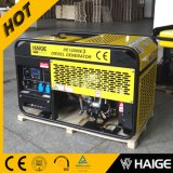 Air Cooled Open Frame Portable 10kVA Diesel Generator with Four Wheels for Sale