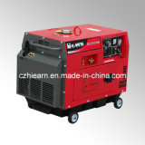 Welding Silent Diesel Generator with Red Color (DG6500SEW)