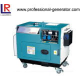 Portable 5kVA Silent Diesel Generator Air-Cooled with 10 Inch Wheels