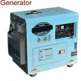 6kw Air-Cooled Diesel Generator with Electric Start AC Single Phase
