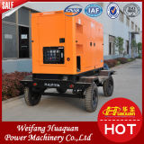 Weifang 50kVA Super Low Noise Mobile Diesel Silent Trailer Generator