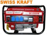 Low Price Sk8500 8.5kVA Generator, Swiss Kraft Style Power 7500W Gasoline Generator, Three Phase Power Generator