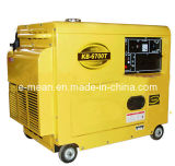 New 5kw Black Diesel Generator with Four Wheels