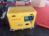 AC Single Phase 50Hz/5kw Key Start Silent Diesel Generator with Canopy for Shop Use