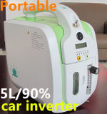 5L Portable Oxygen Concentrator with Concentration 90% Oxygen Bar Jay-5p Green and Light Gray Car Inverter No Lithium Battery (JAY-5P)