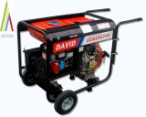 Deluxe Diesel Generator (Open Style) with 2 Wheel and Handle (Blue)